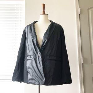 Michael Kors PLUS SIZE 16W Blazer Leather